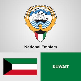 Nationales emblem und flagge kuwaits