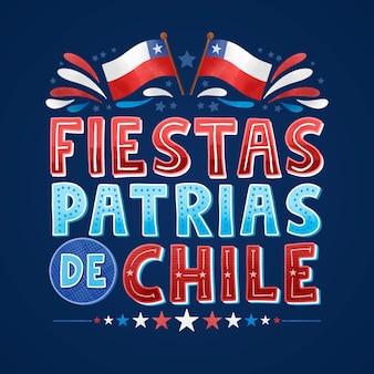 Nationalfeiertag des chile-konzepts