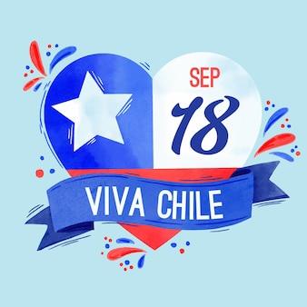 Nationalfeiertag von chile und ihre flagge