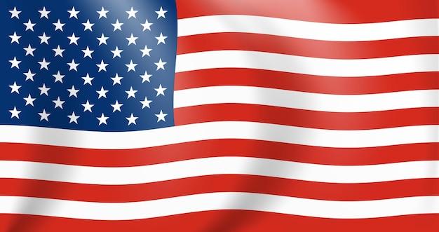 Nationalflagge von amerika. usa-banner hautnah winken. vektor-illustration. eps10