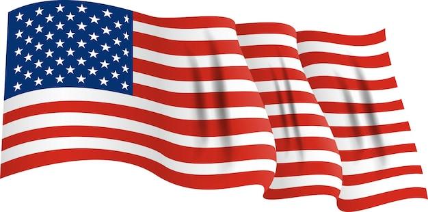 Nationalflagge von amerika. usa-banner winken. vektor-illustration. eps10