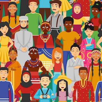 Nationen Seamless Illustration