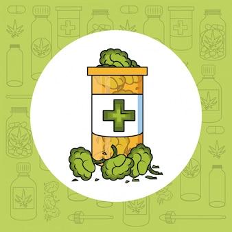 Natürliche cannabis-medizin