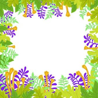 Natürliche fahne mit stilisierten grünen blättern. frühlings- oder sommerlaub.