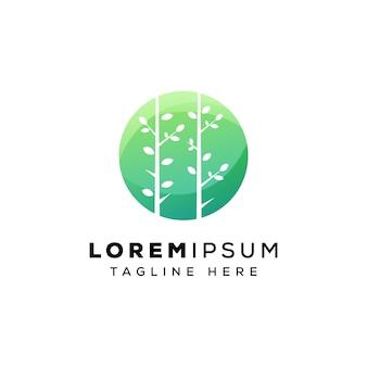 Natürliche feder logo design premium