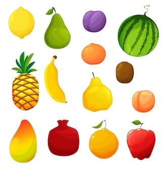 Natürliche früchte gesetzt