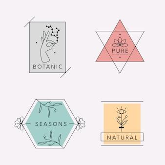 Natürliche geschäftslogosammlung im minimalen stil
