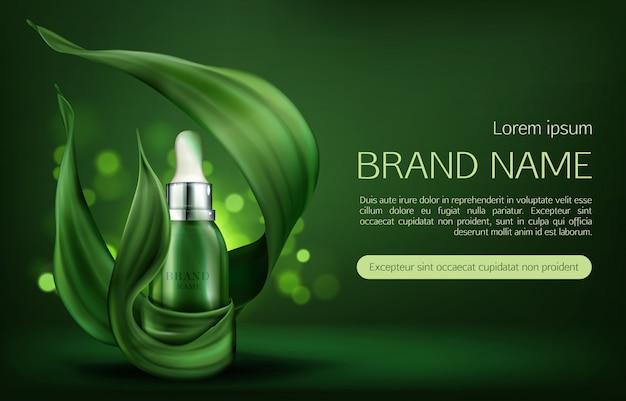 Natürliche hautpflege produkt banner