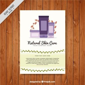 Natürliche hautpflege-produkte flyer