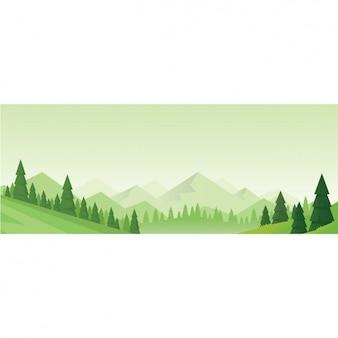 Natürliche landschaft hintergrund