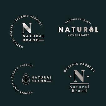 Natürliche logo-sets