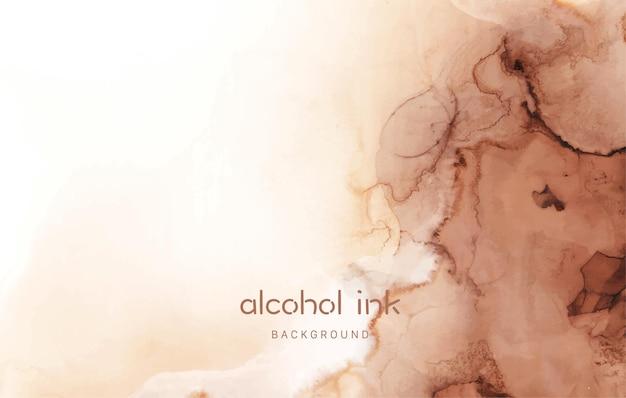 Natürliche luxuriöse abstrakte flüssige kunstmalerei in alkoholtintentechnik. kunst für designprojekt als hintergrund für einladungs- oder grußkarten, flyer, poster, präsentation, banner.