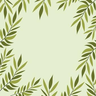 Natürliche rahmendekoration der grünen blätter