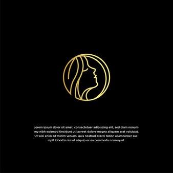 Natürliche schönheit logo entwurfsvorlage