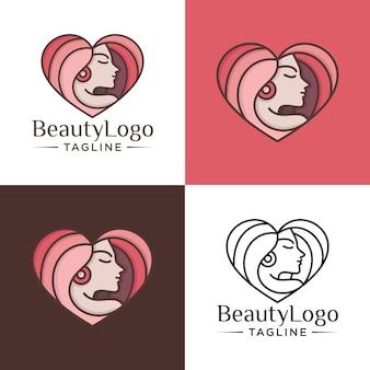 Natürliche schönheit logo vorlage