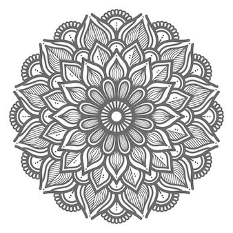 Natürliche und schöne mandalaillustration für abstraktes und dekoratives konzept