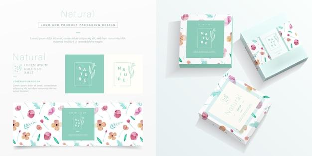 Natürliche verpackung im minimalistischen stil.