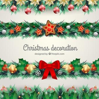 Natürliche weihnachtsdekoration set