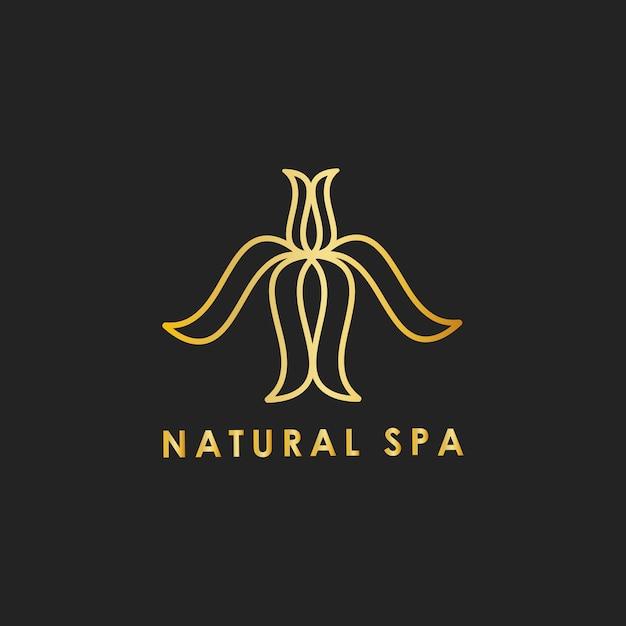 Natürlicher badekurortdesign-logovektor