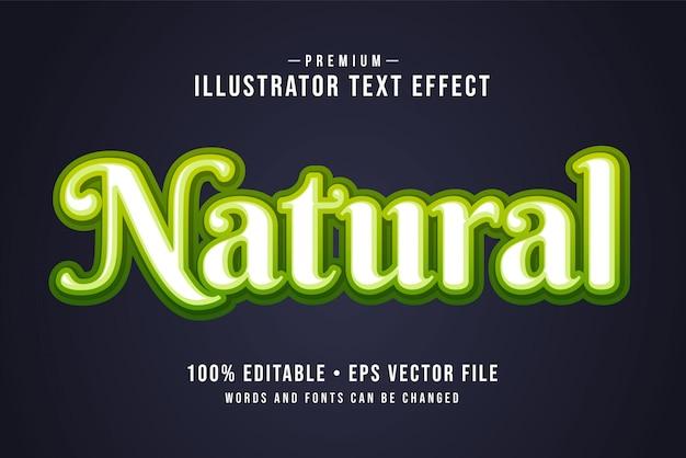 Natürlicher bearbeitbarer 3d-texteffekt oder grafikstil mit hellgrünem farbverlauf