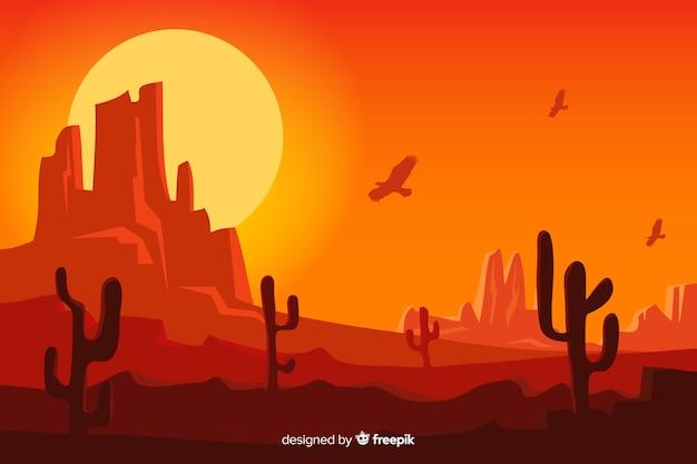 Natürlicher hintergrund mit wüstenlandschaft