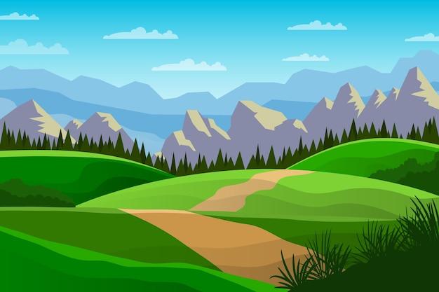 Natürlicher landschaftshintergrund für videokonferenzen
