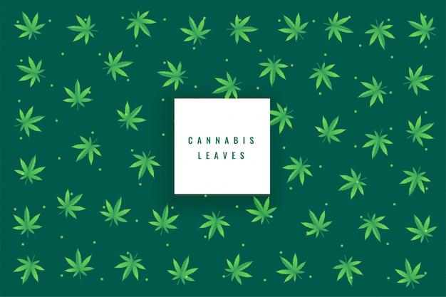 Natürlicher marihuanahanf verlässt musterhintergrund