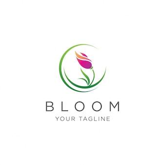 Natürliches blüten-logo