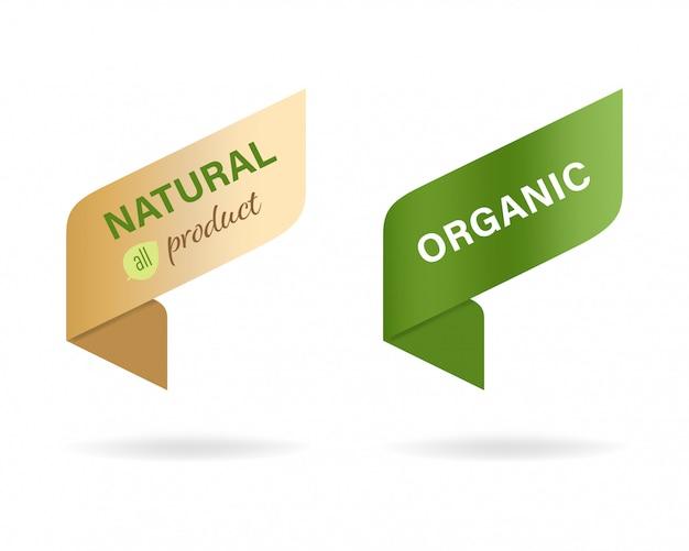 Natürliches etikett und bio-label.