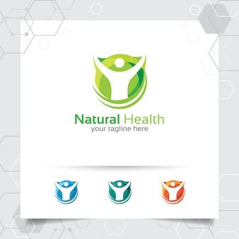 Natürliches gesundheitslogo