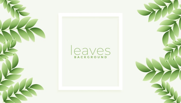 Natürliches grün hinterlässt hintergrund mit textraum