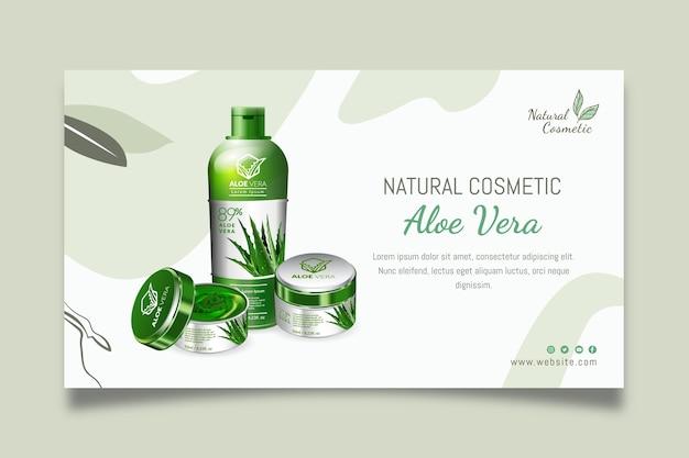 Natürliches kosmetisches banner