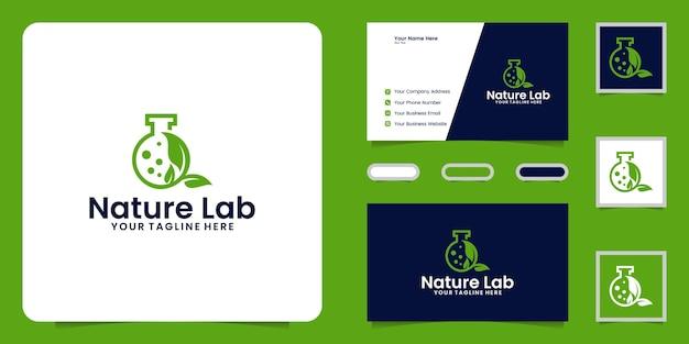 Natürliches labor und inspiration für visitenkarten