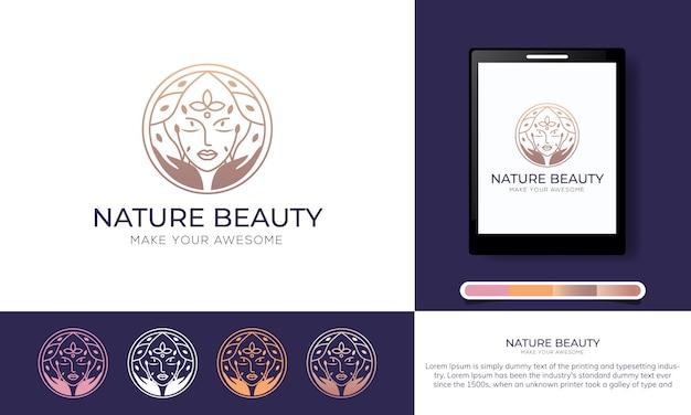 Natürliches schönheitslogo