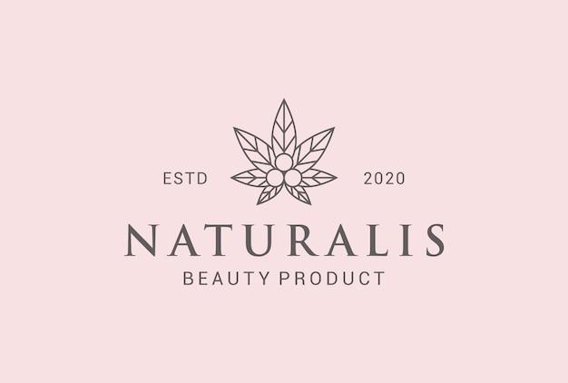 Natürliches schönheitspflege-logo-design.