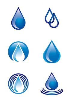Natürliches wasser über weißer hintergrundvektorillustration