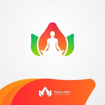 Natürliches yoga-gesundheits-logo