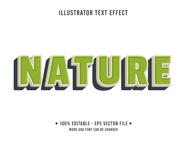 Natur bearbeitbarer texteffekt moderner stil mit grüner farbe