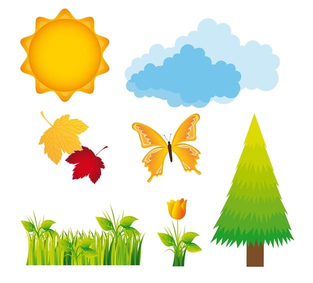 Natur design-elemente