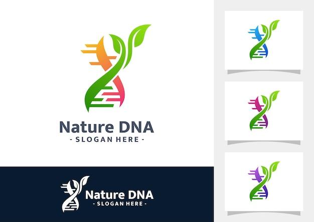 Natur-dna-gradienten-logo-vektor
