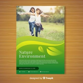 Natur flyer vorlage mit modernem design