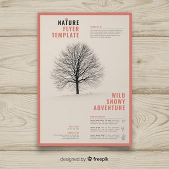 Natur-flyer-vorlage