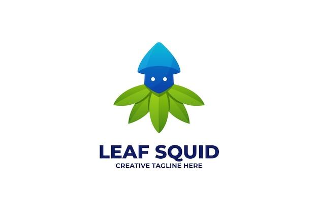 Natur frischer tintenfisch logo