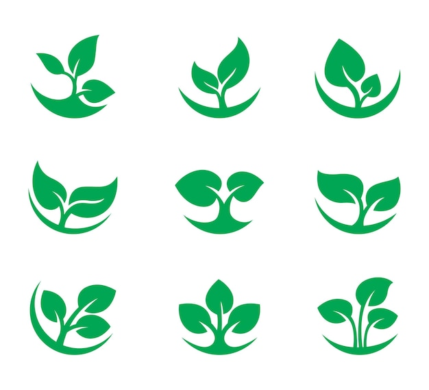 Natur grünes blatt logo