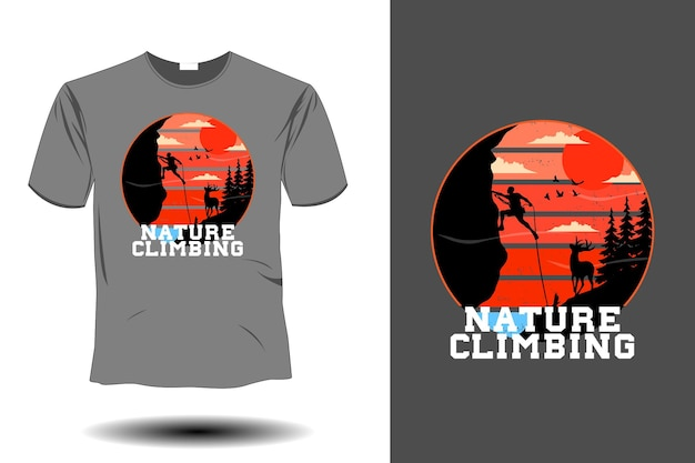 Natur-klettermodell retro-vintage-design