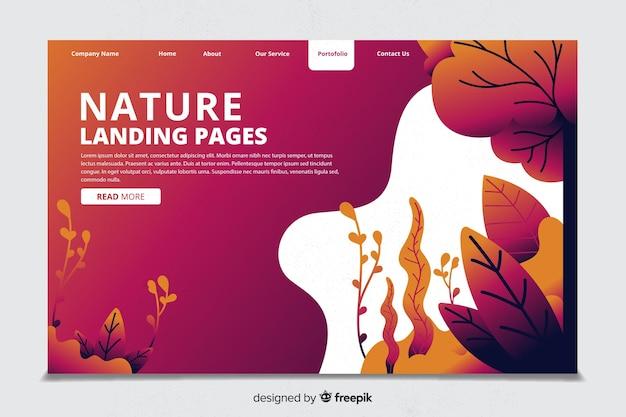 Natur-konzept-landing-page-vorlage