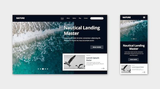 Natur-landing-page-vorlage