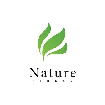 Natur-logo-vektor-design-vorlage. blattsymbol