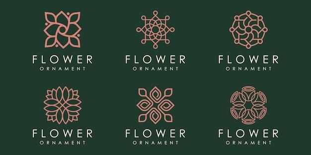 Natur-ornament-logo und icon-set. designvorlage vektor.