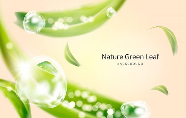 Natur, saubere luftfederblätter